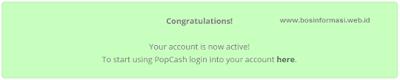 konfirmasi pendaftaran PopCash