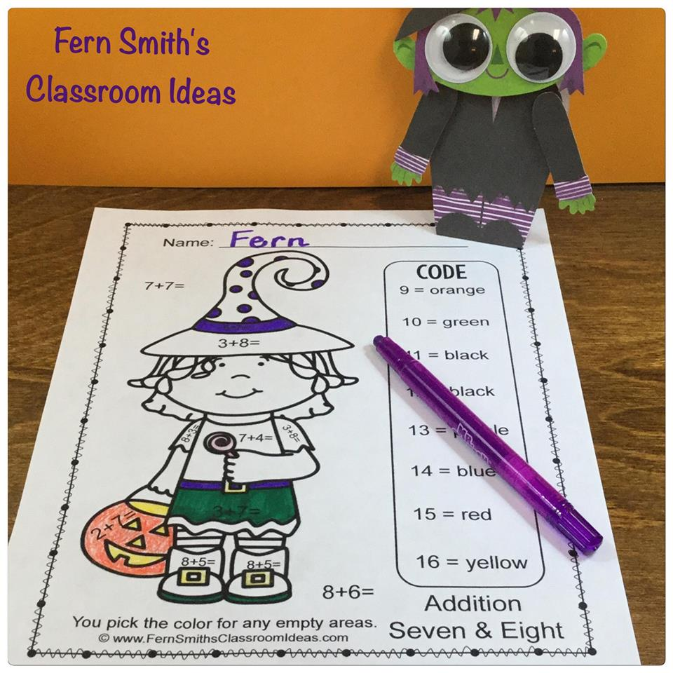 Fern Smith's Classroom Ideas Color For Fun Summer at TeachersPayTeachers!