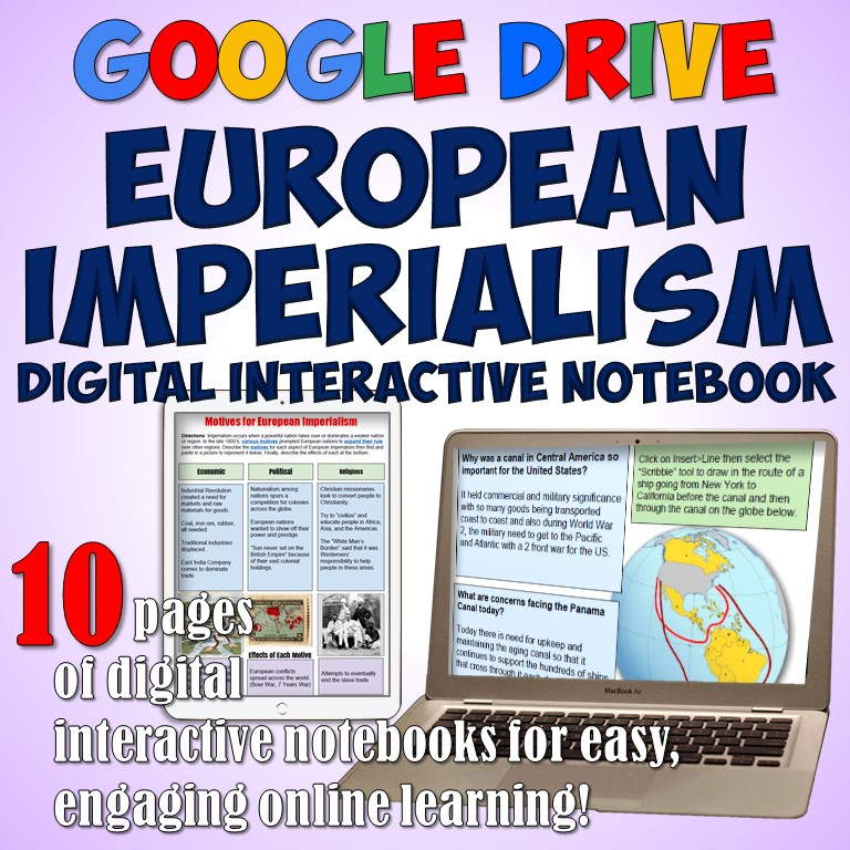 Students of History: Imperialism Google Drive Interactive Notebook