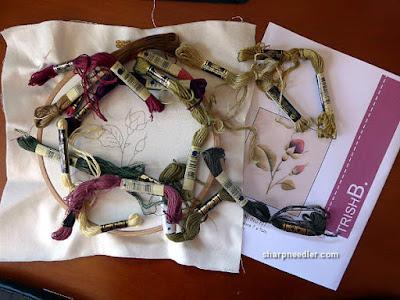 Burgundy Rosebuds (by Trish Burr): Project threads