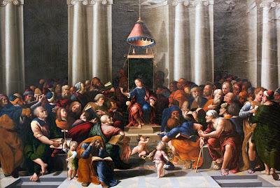 Imagem de Jesus Cristo criança ensinando no Templo, pintura, #1