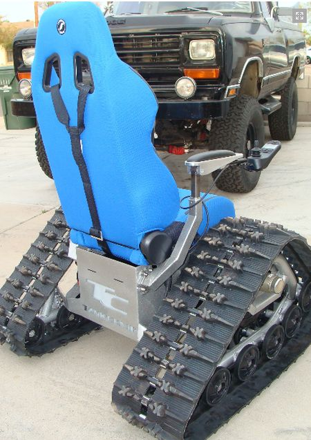tank chair wheelchair oval back side ~ damn cool pictures