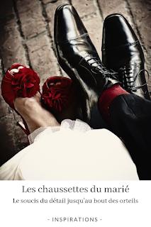 porter des chaussettes de couleur à un mariage blog mariage unjourmonprinceviendra26.com