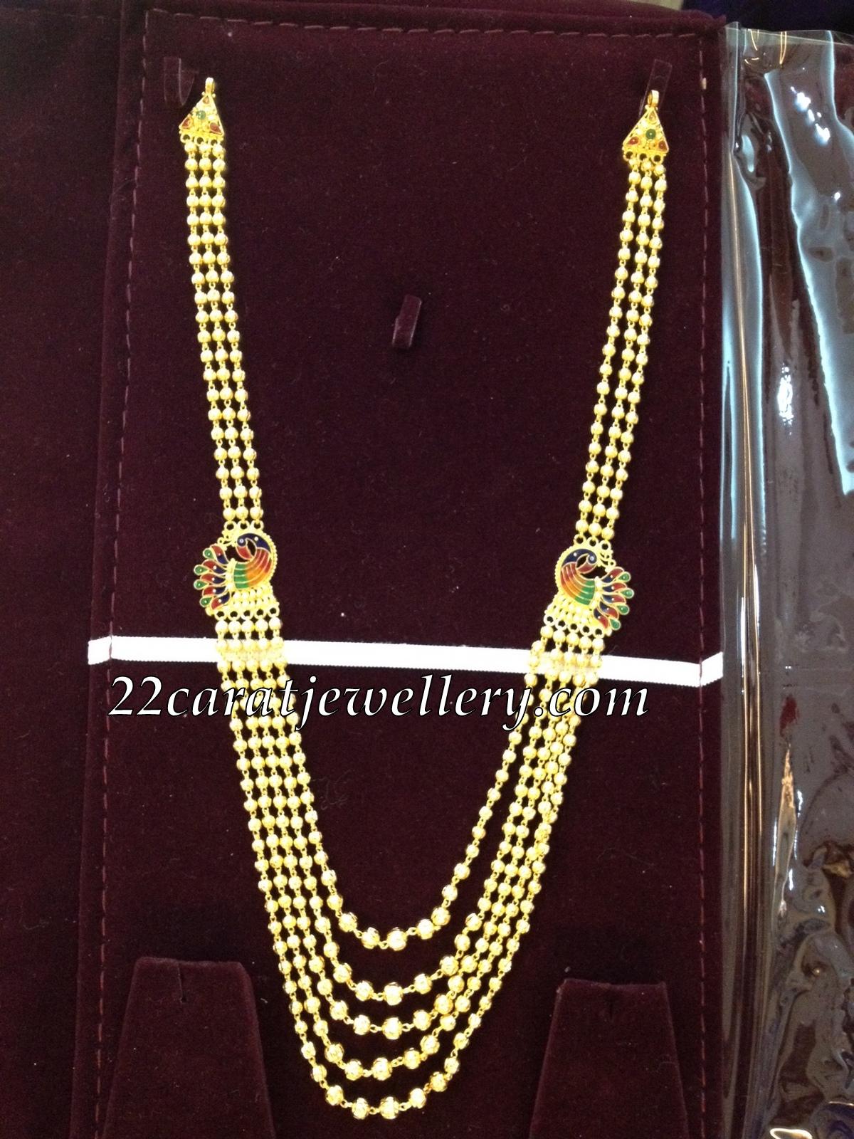 Beaded Chandra Haram Jewellery Designs