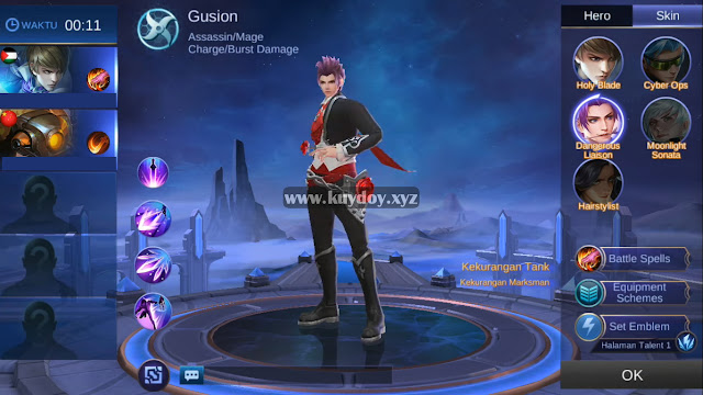 Download Script Skin Valentine Gusion Mobile Legends