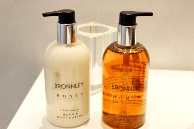 Bronnley honey cosmetics travel kit
