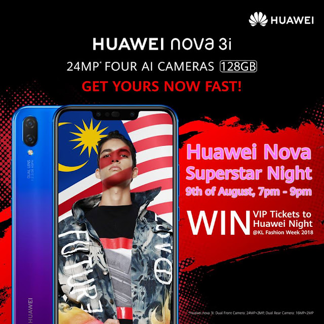 HUAWEI Nova Superstar Night at KLFW 2018 on 9 August 2018