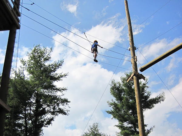 High Ropes and Girl Scouts