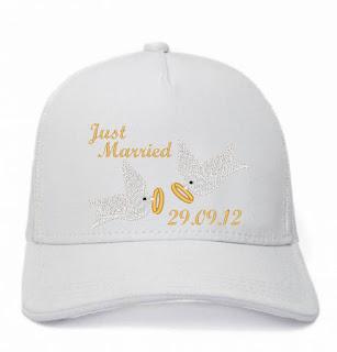 Boné para noiva e casamentos personalizado com bordado | Just Married