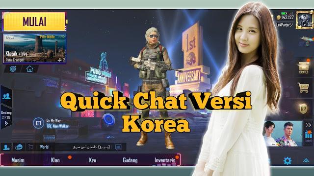 Cara Mengubah Suara Quick Chat PUBG Mobile Ke Bahasa Korea  Cara Mengubah Suara Quick Chat PUBG Mobile Ke Bahasa Korea (Baby Santa)