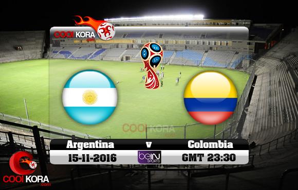 مشاهدة مباراة الأرجنتين وكولومبيا اليوم 15-10-2016 تصفيات كأس العالم