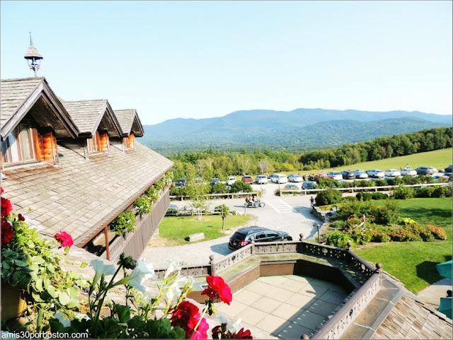 Vistas desde el Balcón del Deluxe Room del Trapp Family Lodge en Vermont
