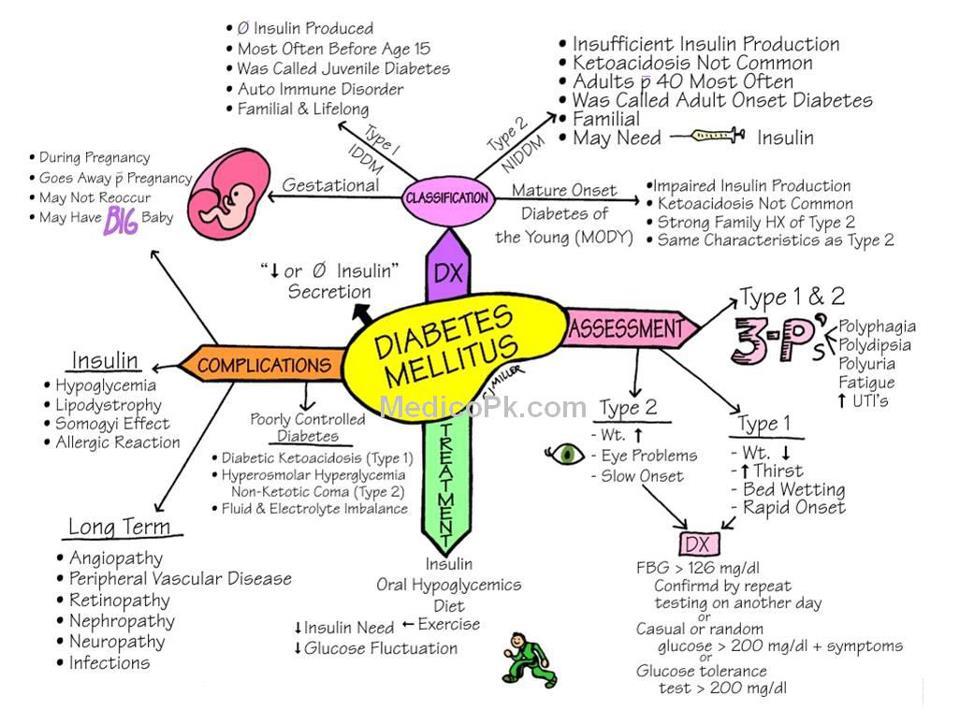 Definition diabetes mellitus typ 1 und 2