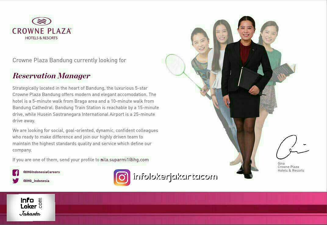Lowongan Kerja Crowne Plaza Hotel & Resort September 2017