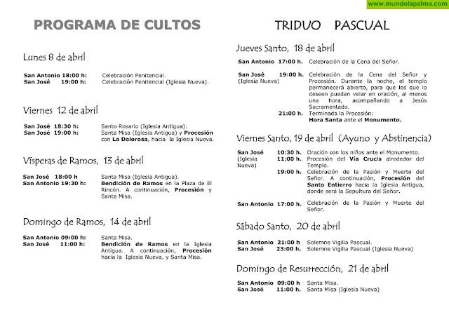 Programa de Semana Santa de Breña Baja 2019