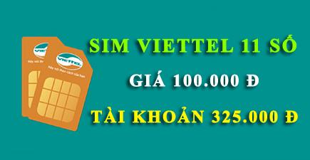 Sim Viettel 11 số tài khoản khủng