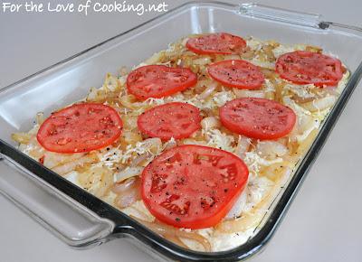 Caramelized Onion, Tomato, and Asiago Cheese Focaccia