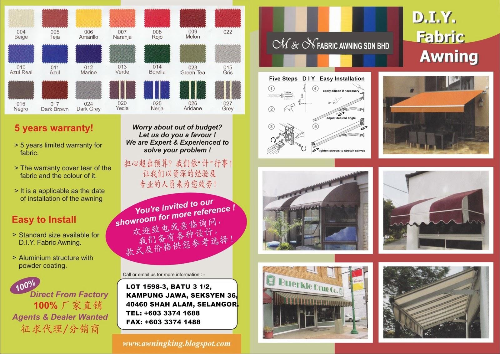 M Amp N Fabric Awning Sdn Bhd