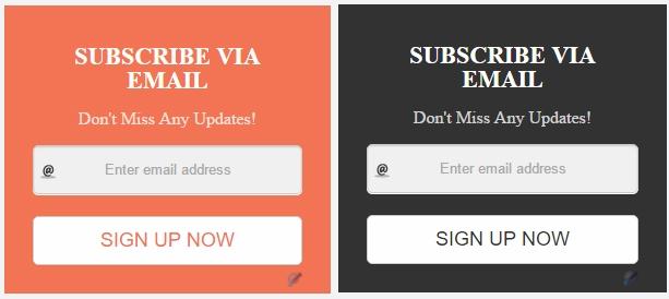 Stylish Blogger Subscription Box Widget