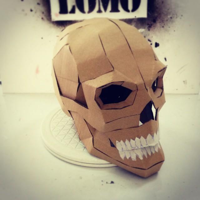 Diy Cardboard Masks: Dali-Lomo: Express: Halloween DIY Cardboard Skull Display