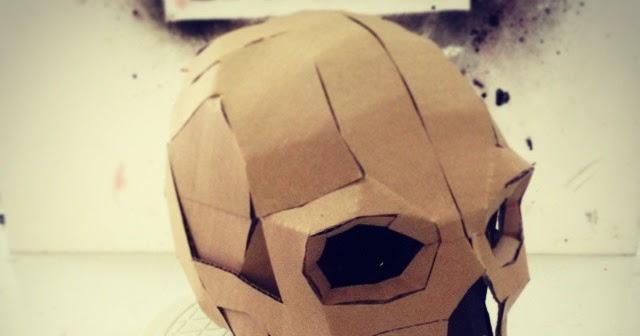 Dali Lomo Express Halloween Diy Cardboard Skull Display Props Pdf
