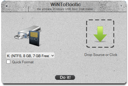 best guide to install windows 8 or 8.1  from usb drive/pendrive using wintobootic