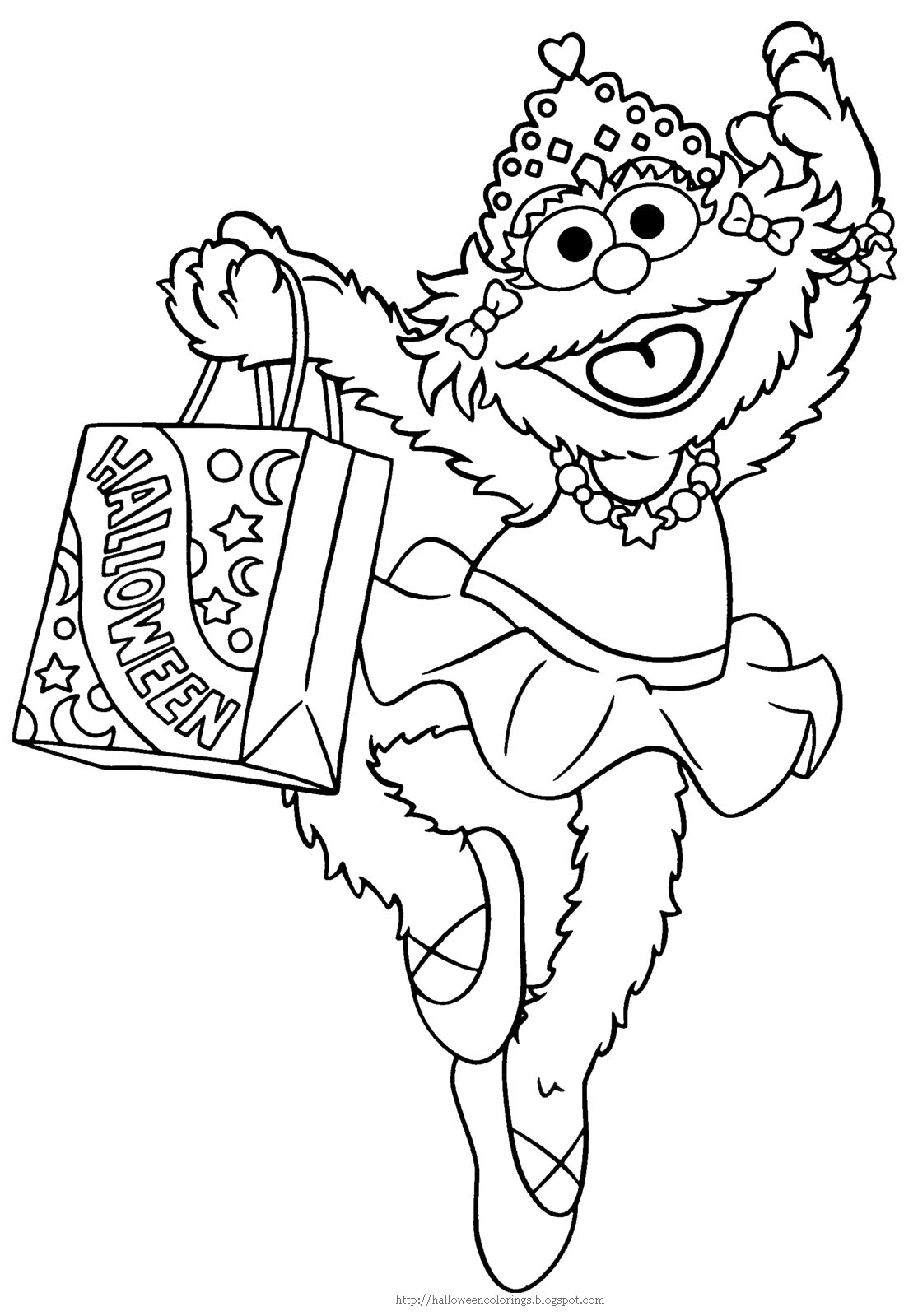 zoe sesame street coloring pages - photo#3