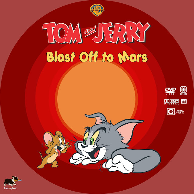 Tom and Jerry: Blast Off to Mars DVD Label