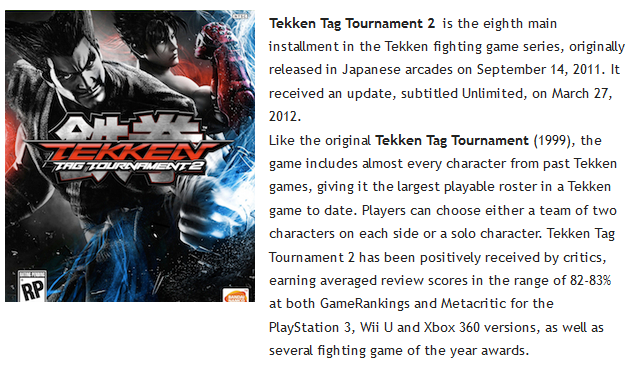 Tekken Tag Tournament 2 PC Game Full Setup Free Donwload