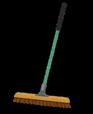 自在ほうきのイラスト(掃除用具)