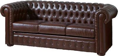 Sofá Chester Piel Oscuro