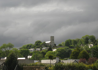 Clouds looming over Greencastle, Ireland