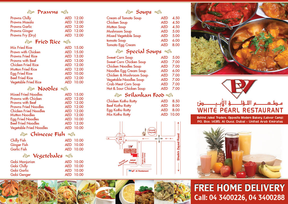 designer dubai restaurant menu sample 3