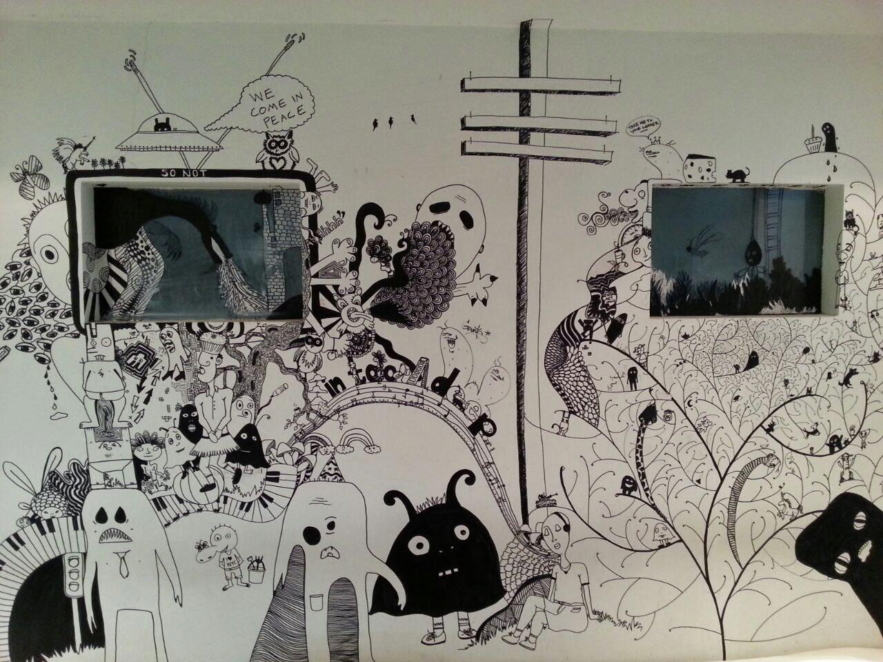 Al Riwaq Art Space Bahrain wall art Pop Culture Middle East blog