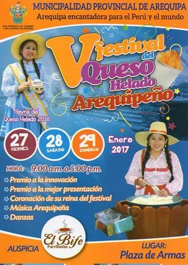 V Festival del Queso Helado Arequipeño - 27,28 y 29 de enero