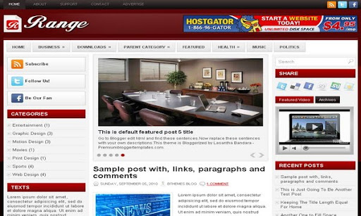 Range Blogger Template
