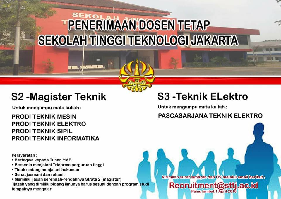 Lowongan Dosen Teknik Sekolah Tinggi Teknologi Jakarta (STTJ)