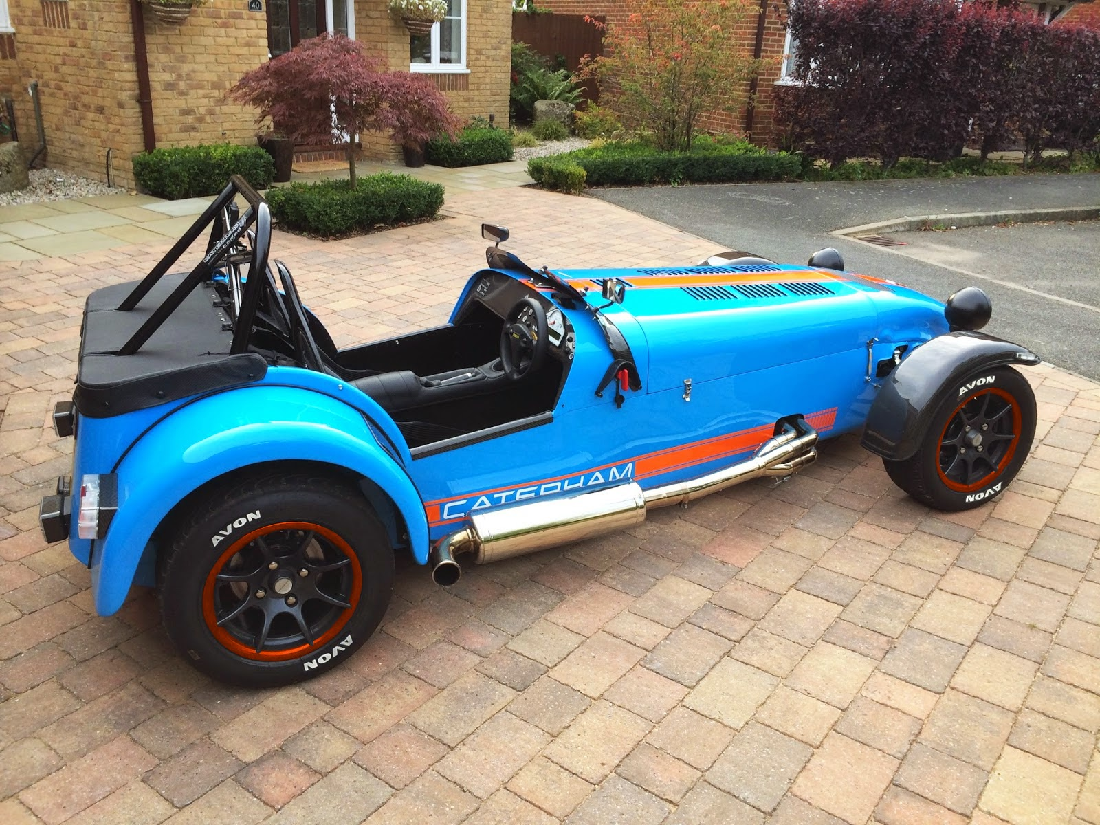 My Caterham R500 with photoshopped wheel and tyre mock-up