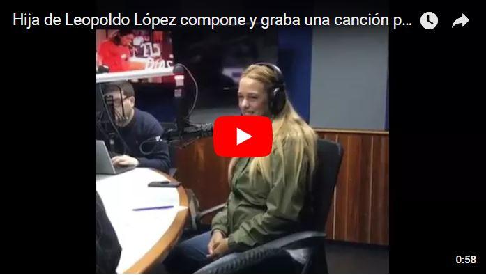 Hija de Leopoldo López compone y graba una canción para su padre