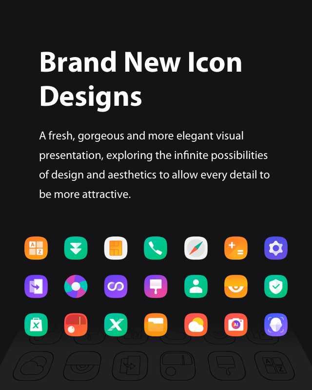 XOS 5.0 Cheetah brand new icons