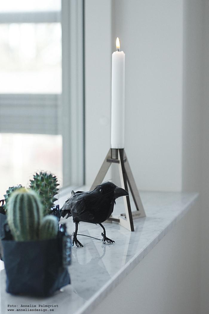 annelies design, webbutik, Oohh kruka, krukor, minikaktus, minikaktusar, ljusstake, ljusstakar, böset, kråka, kråkor, fågel, fåglar, inredning,