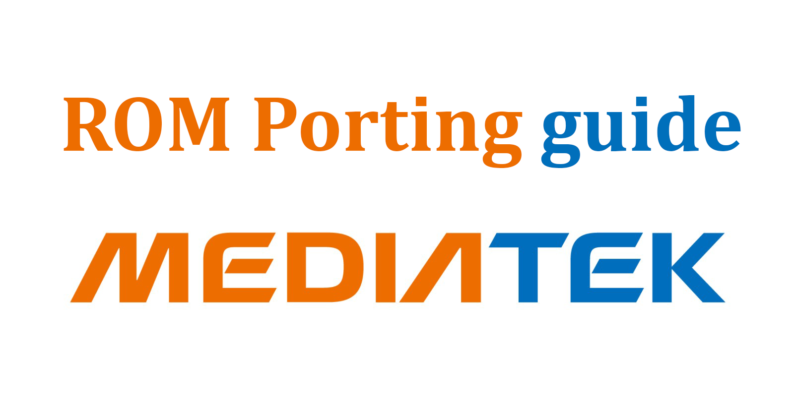 Guide Porting ROM Sesama Chipset