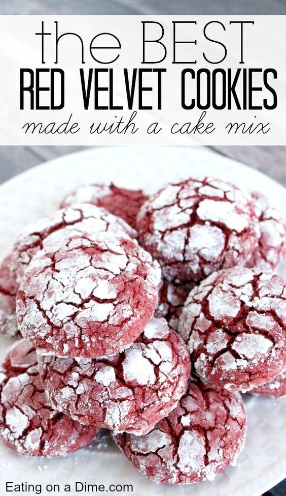 EASY RED VELVET COOKIES RECIPE #easycookierecipes #cookies #redvelvet #redvelvetcookies #cookierecipes