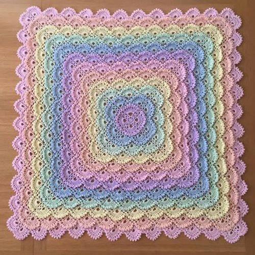 Shell Stitch Baby Blanket  Free Pattern ~ YARN CROCHET