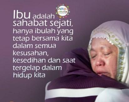 Seorang ibu bisa merawat 10 anak, namun 10 anak belum tentu bisa merawat ibunya