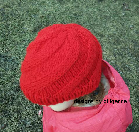 Knitting Pattern Hat Cast On : Designs by Diligence: Swift Swirl Hat: A Free Knit Pattern