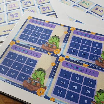 Schüler fördern durch spielerische Wiederholung der Multiplikation mit Rechen Bingos