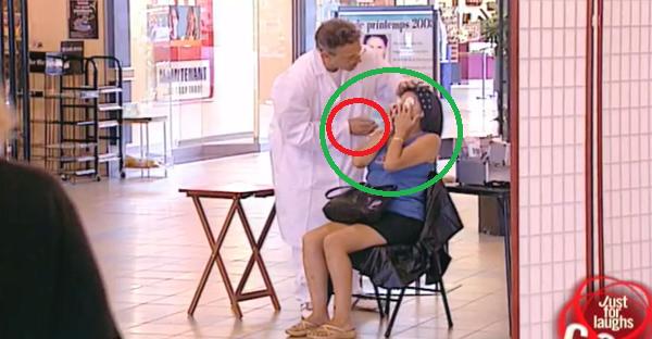 prueba de maquillaje gratis, broma muy graciosa