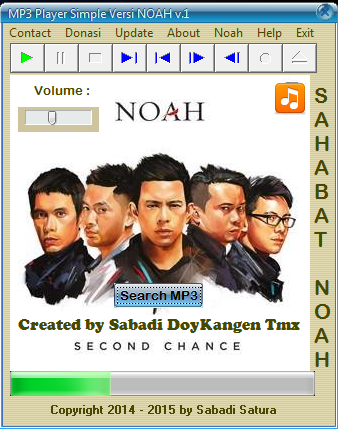 Download MP3 Player Simple Versi NOAH v.1