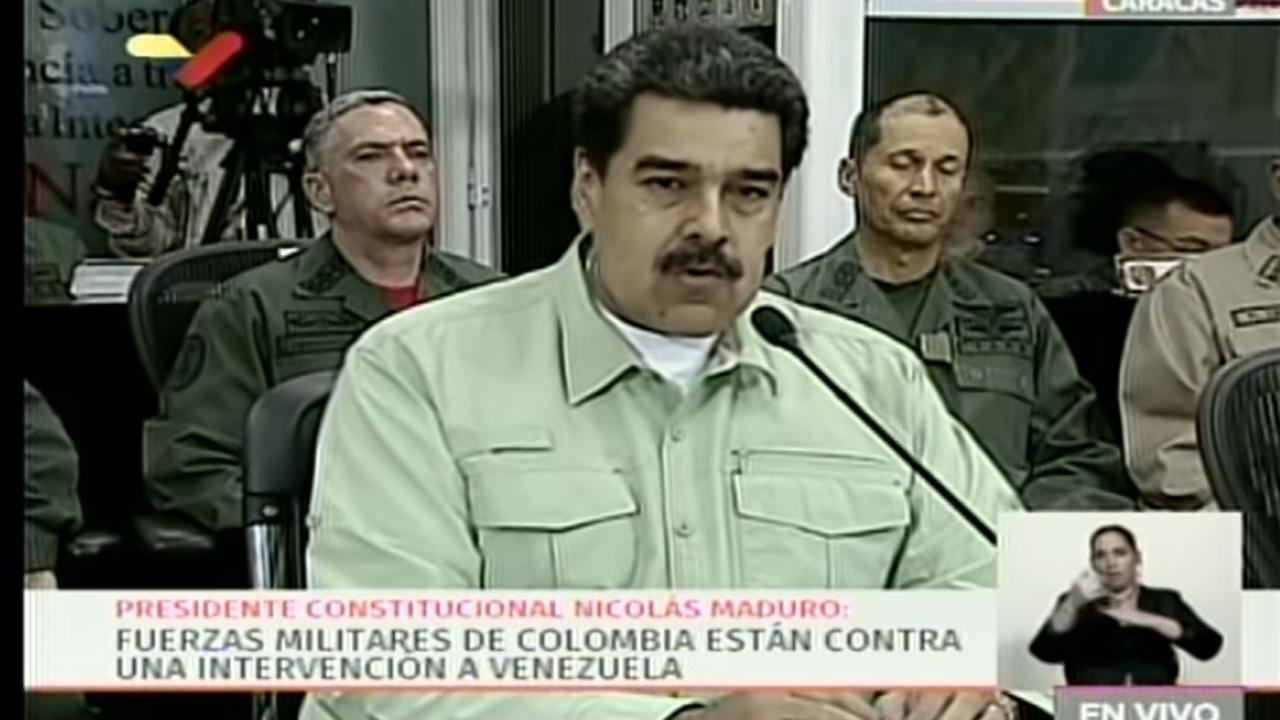 Maduro evalúa cierre de frontera con Colombia, responsabiliza a Iván Duque si hay hechos violentos